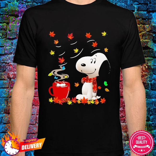 SNoopy drink Coffee Autumn shirt